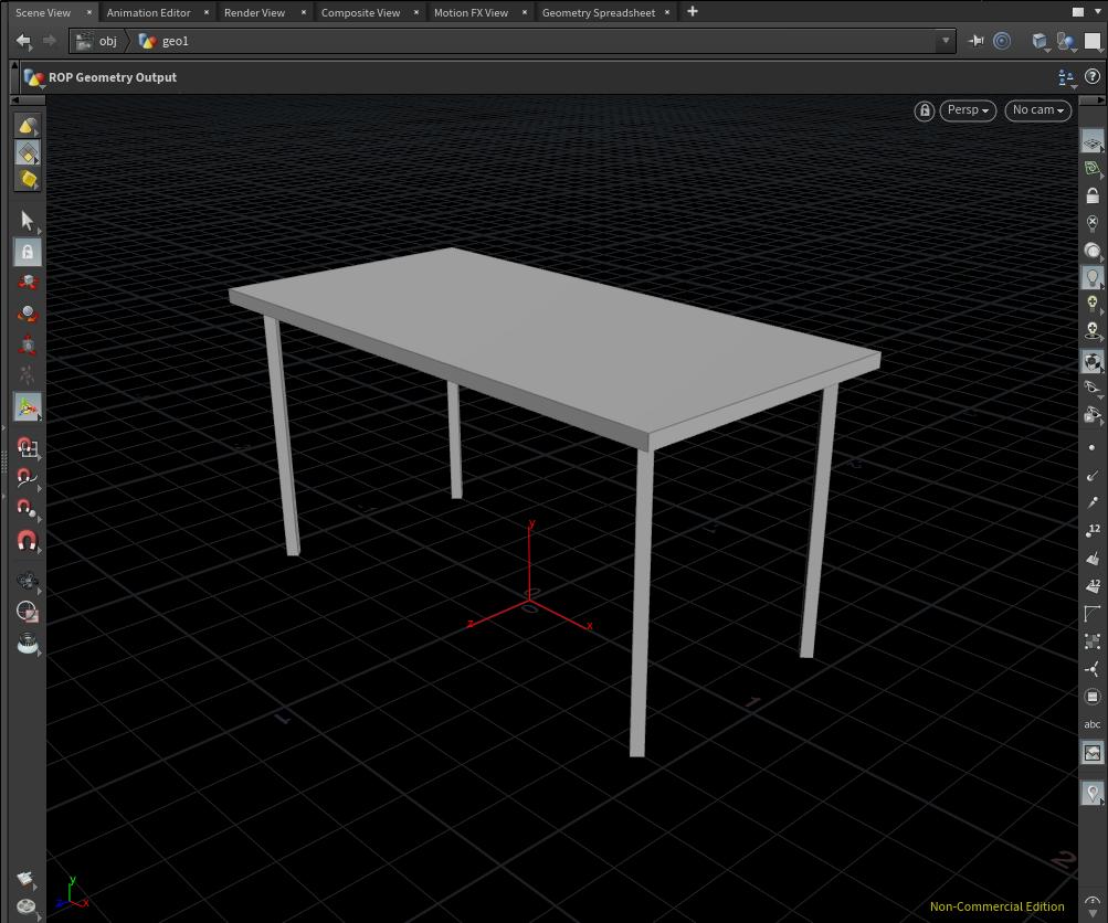 四角いテーブルを作る