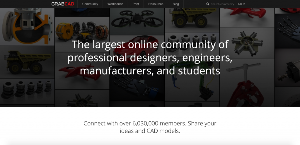 Introduction to GrabCAD, a website where you can download