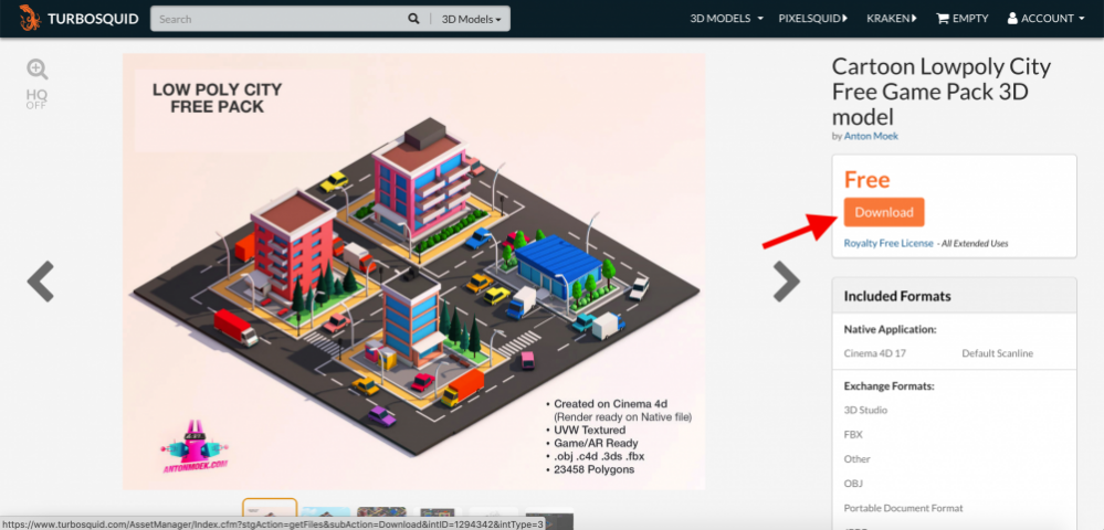 Introduction to TURBOSQUID, a free 3D model site | STYLY