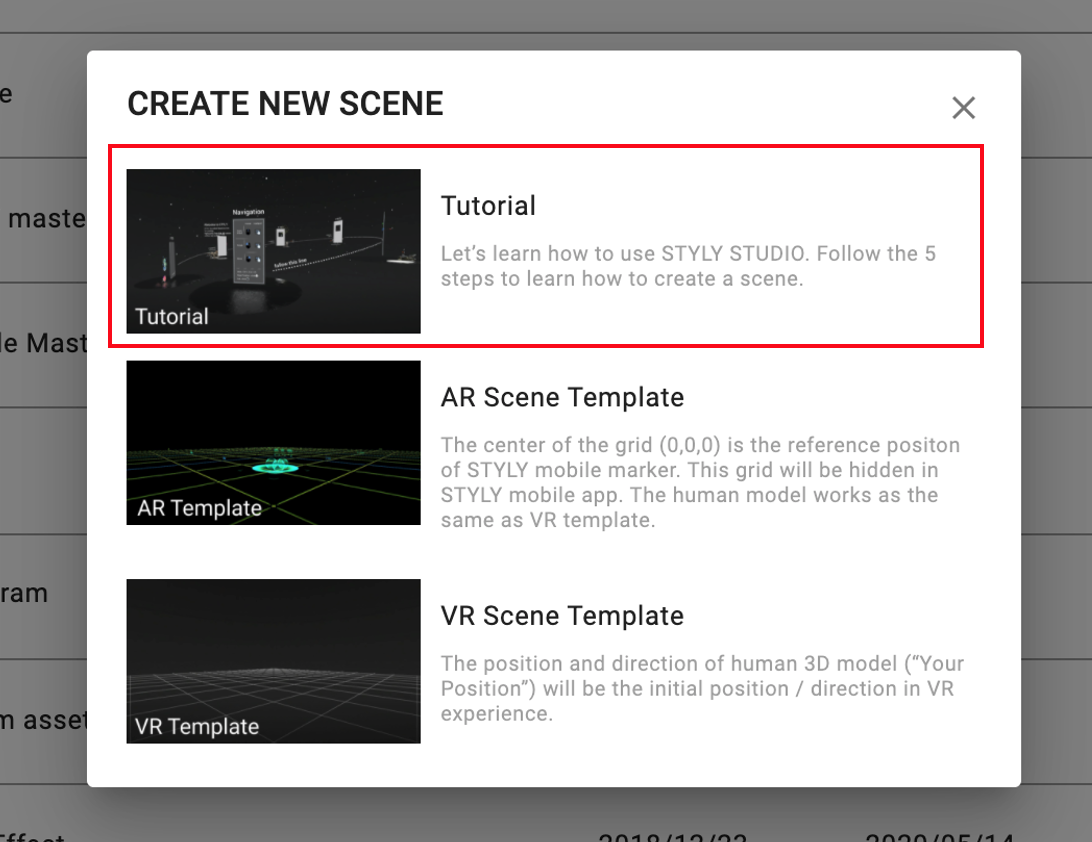 "Select ""Tutorial"""