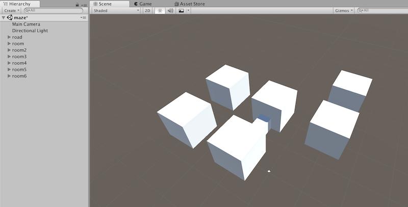 6つの立方体