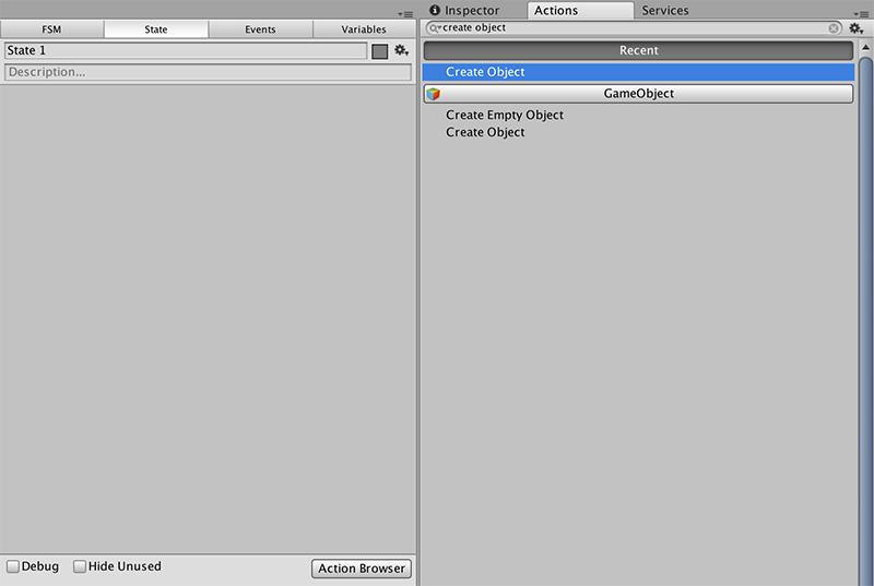 Create Objectアクションを追加する