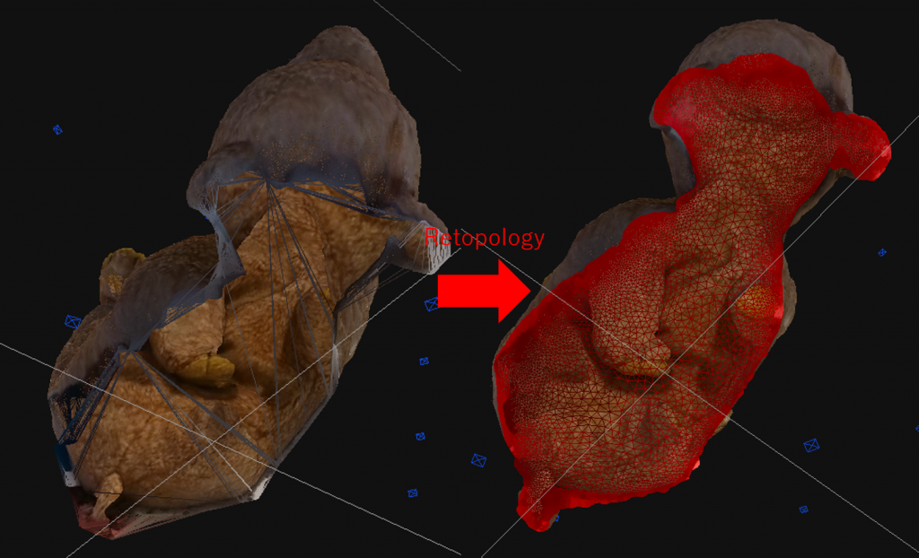 The result of selecting and retopologizing. If it's not enough, you can add more.