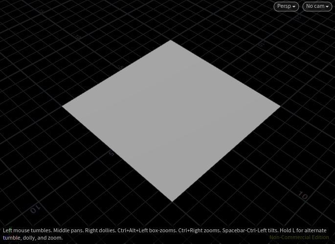 Gridノードで作成した正方形メッシュ