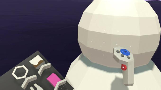 Shapeブラシで雪だるまの頭と胴を球体でかたどっている