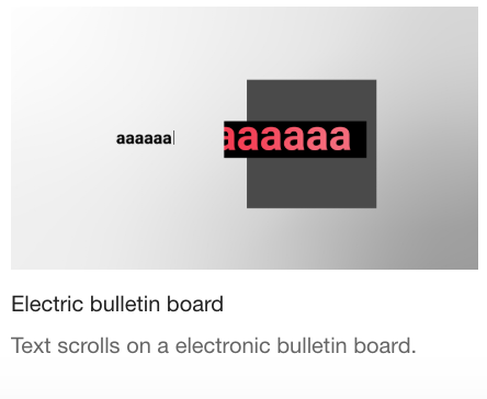 Electric bulletin board