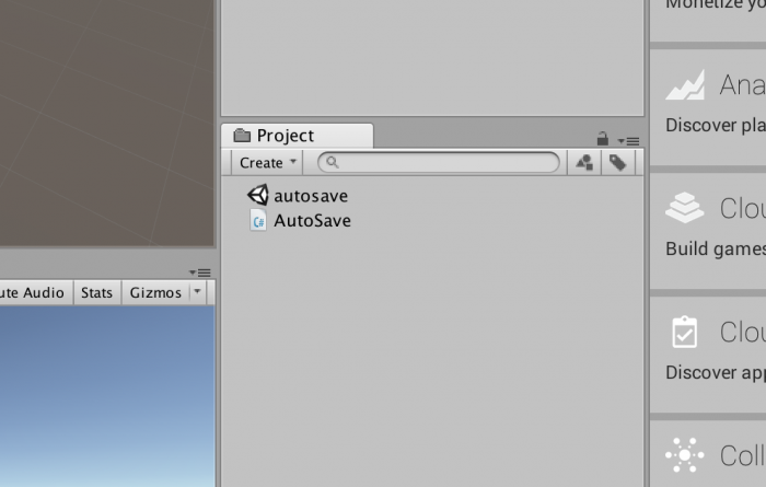 AutoSave.csをUnityプロジェクトに配置