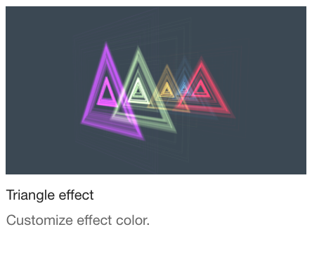 Triangle efffect