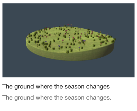 The ground where the season changes