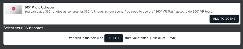 Procedure to upload 360° images