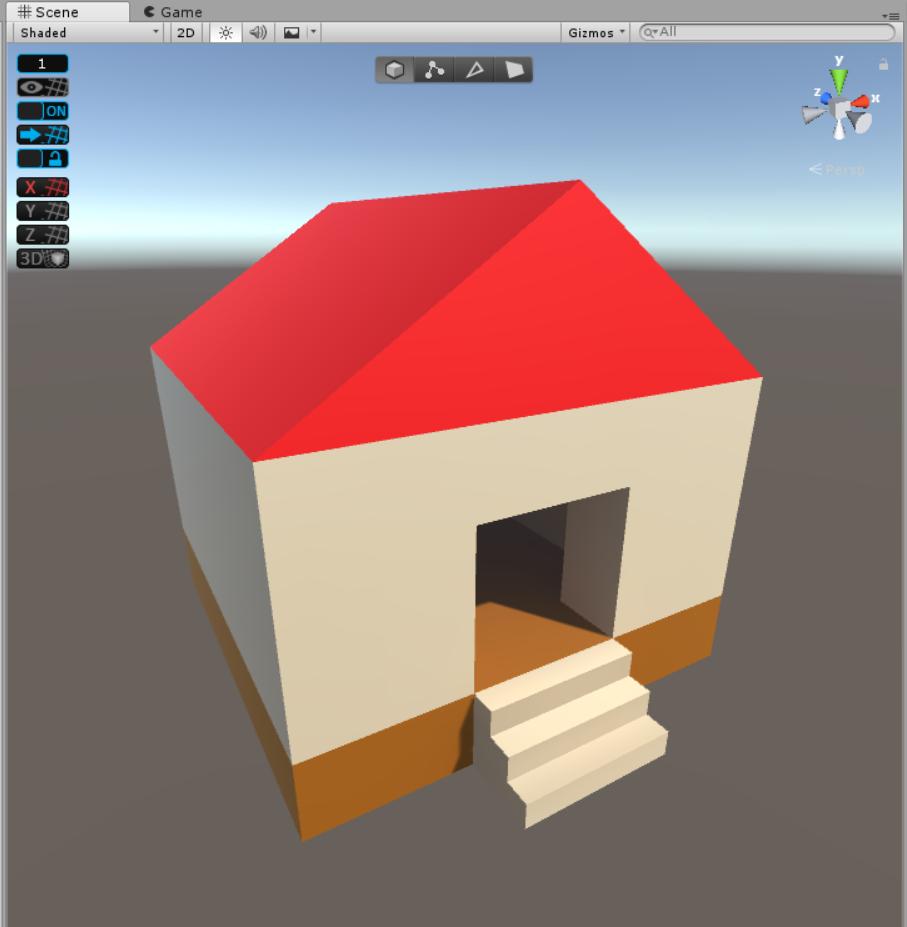 簡単な家の完成