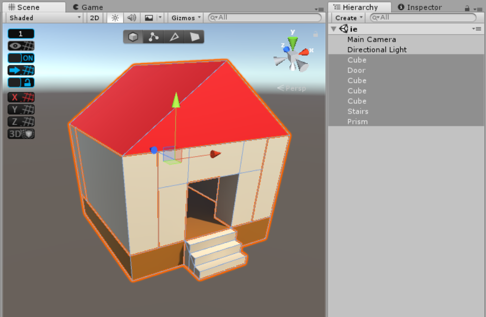 簡単な家のオブジェクトを選択