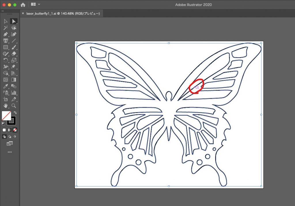 Illustratorでパスを確認する