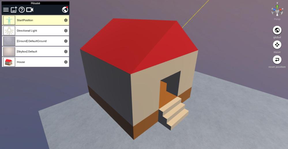 簡単な家をSTYLYにアップロード