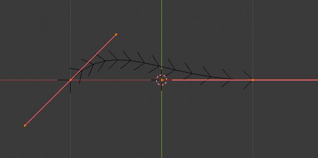 編集モードのベジェ曲線