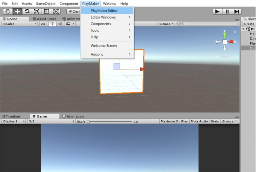 PlayMaker > PlayMaker Editor