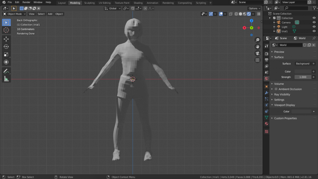 Importing a low-poly model