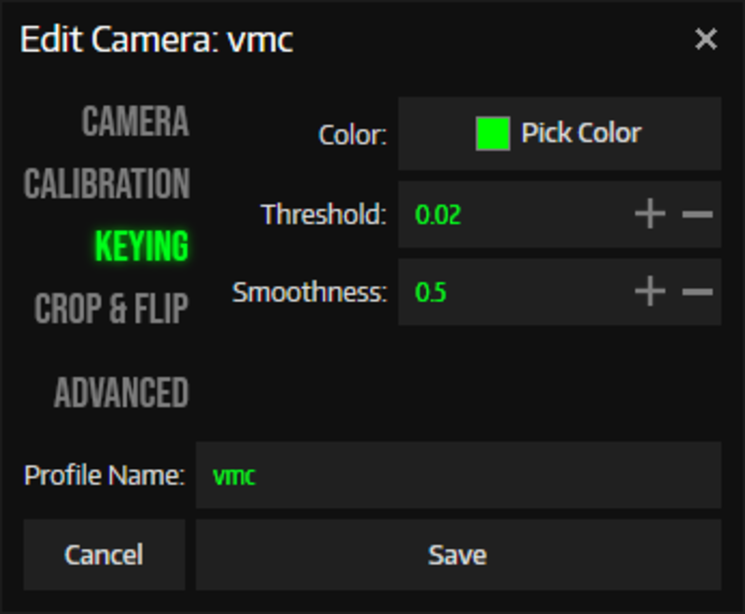 VMCの背景色と同じ色を選択