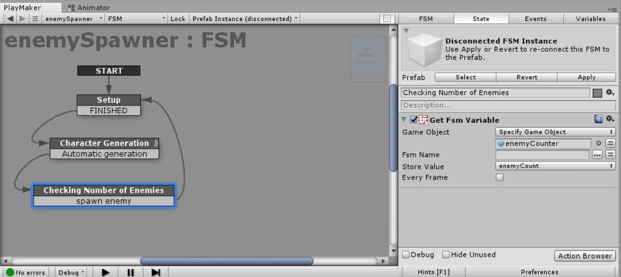 Get Fsm Variableアクションを追加