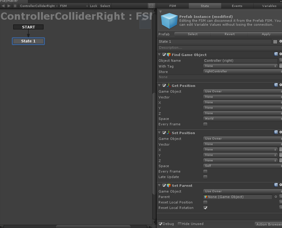 Find Game Object settings