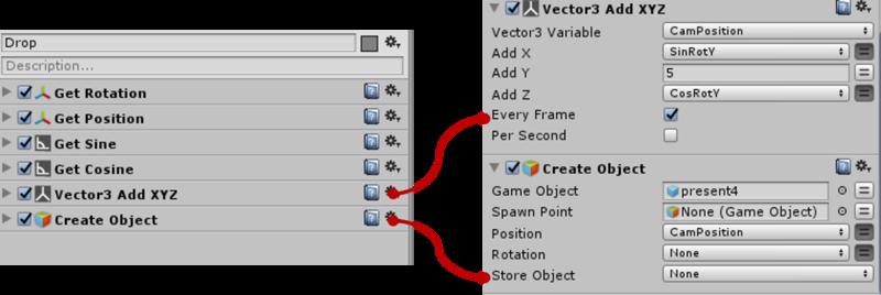 ユーザーの位置を反映し、その場所にオブジェクトを生成する