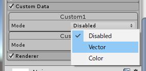 Mode を Vectorへ設定