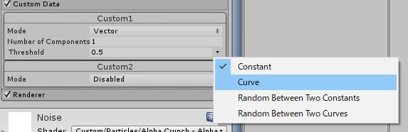 Curveを選択