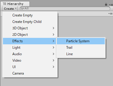 ParticleSystemの作成