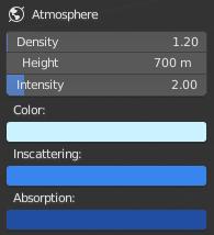 Atmosphereのパラメーター上段