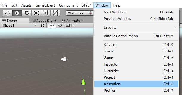 Animationをクリック