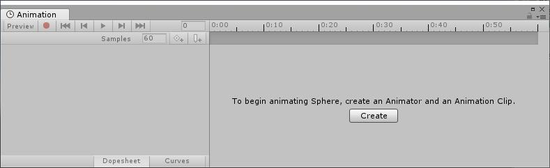 Animationタブを表示