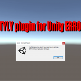 Unity Plugin for STYLY How to resolve the error when uploading