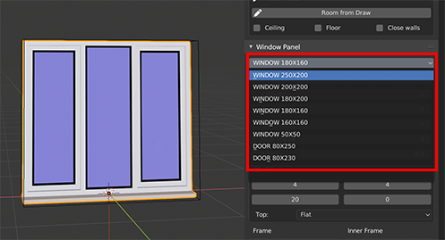 Changing the window base size