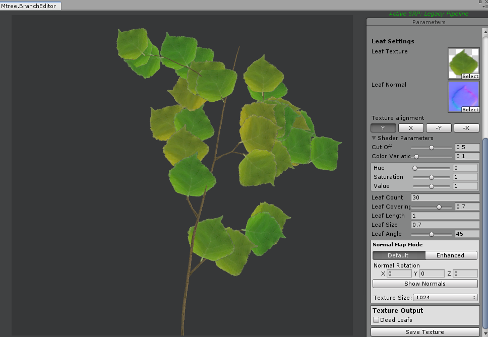 Creating a leaf texture
