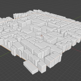 Blender GISを利用して街並みを作ってみる・その2