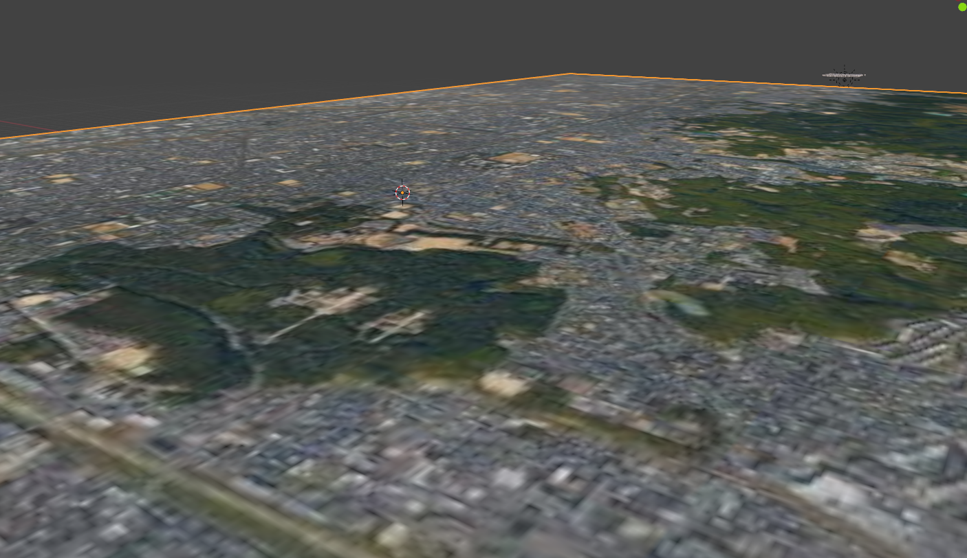 Let's generate a map of the entire Kyoto City. As you can see, when you pull the camera over, the resolution is not good enough to use.