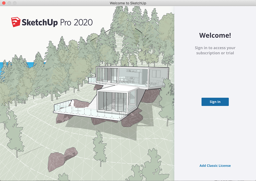 Sign in to SketchUp