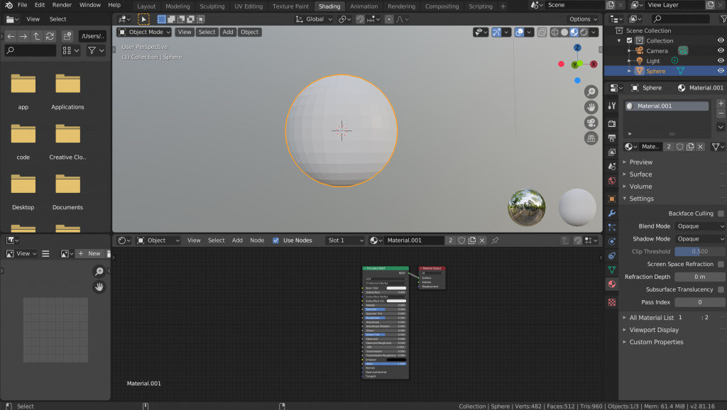 Adding a UV Sphere