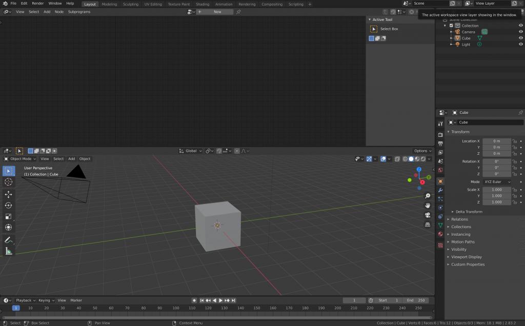 上:Animation Nodes 下:3D Viewport
