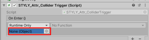 Drag and drop ColliderTrigger from the hierarchy into the None (Object) form