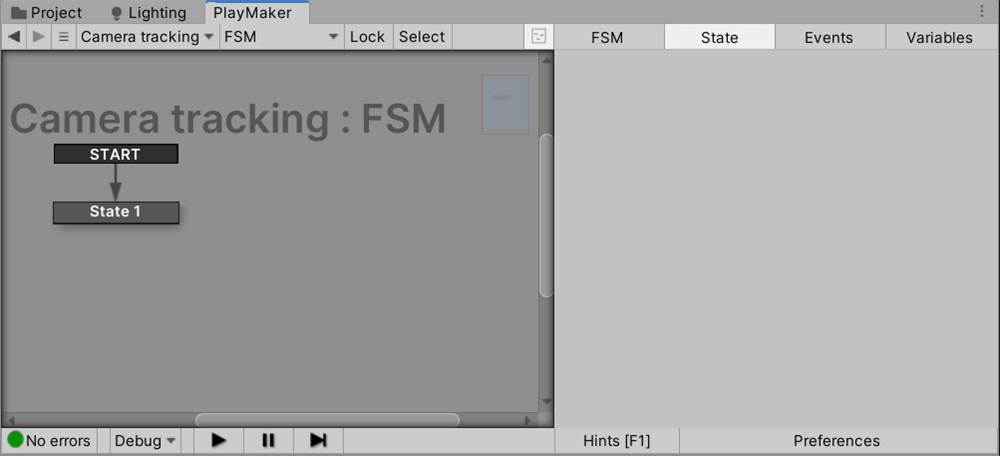 Add a FSM to camera tracking