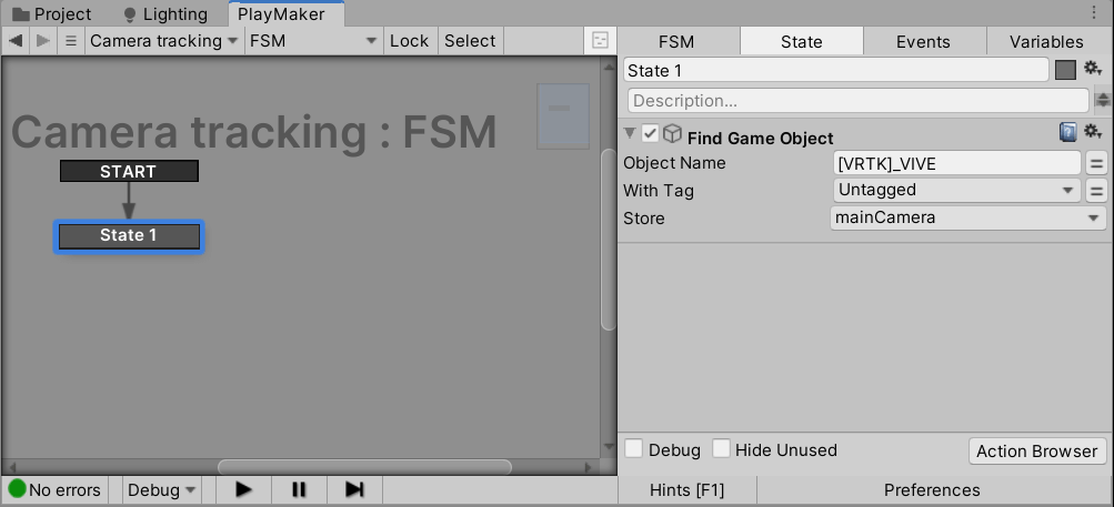 Setting up the Find Game Object