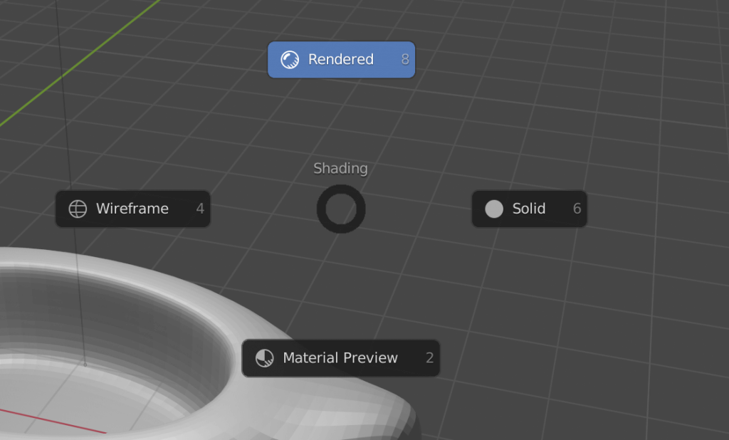 Switching shading in the 3D view