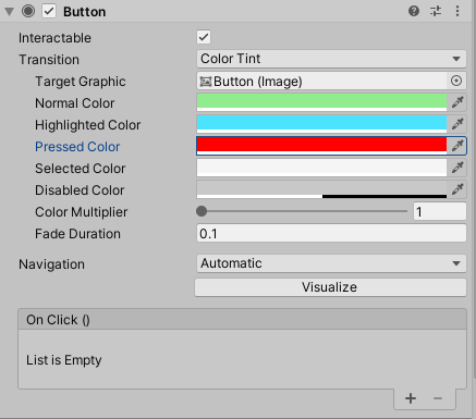 Color Tint setting of Button