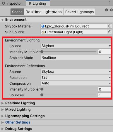 Lightingで環境光の設定をする
