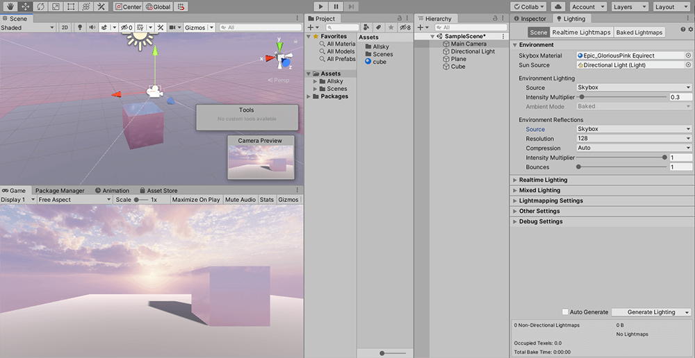 Setting the Source to Skybox
