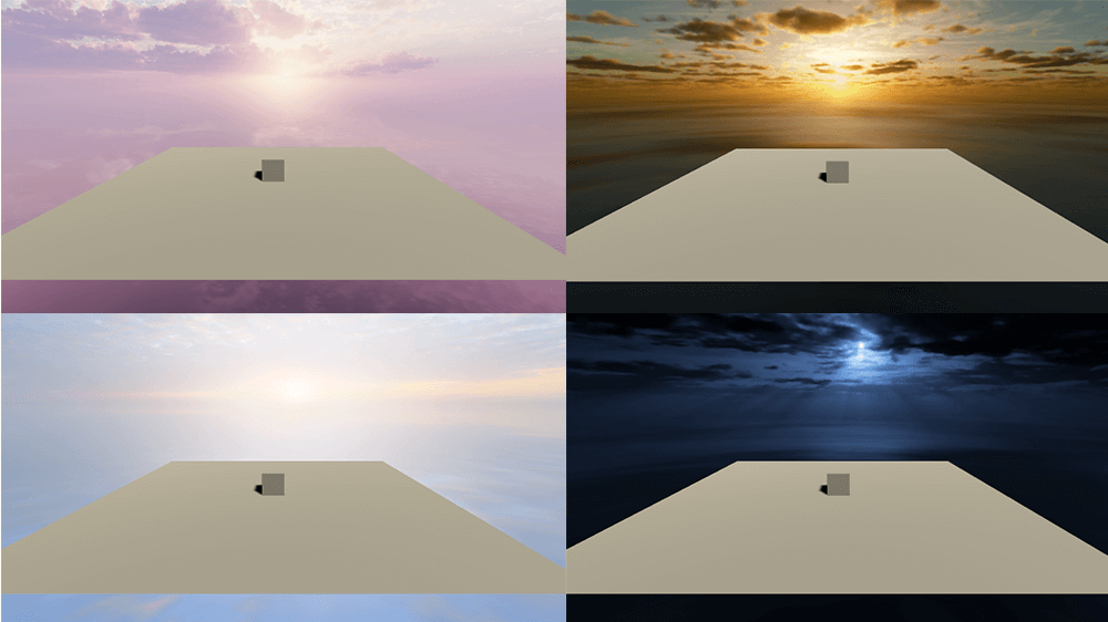 A variety of Skyboxes