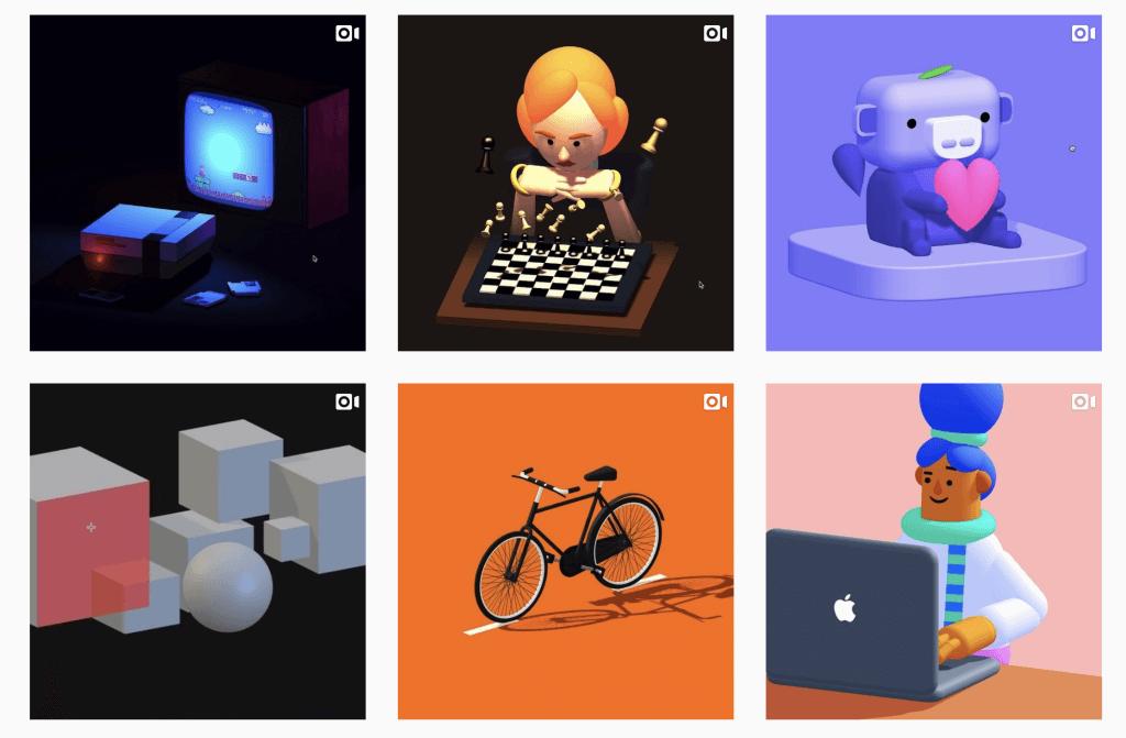 Works on Spline's official Instagram