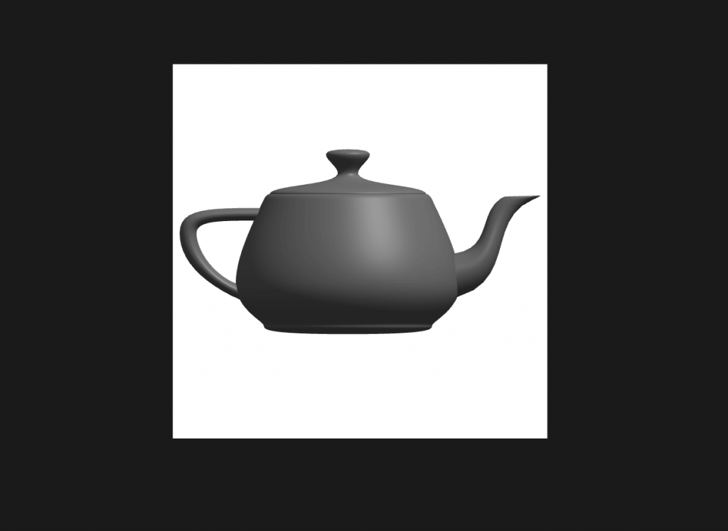 Example of placing a Teapot