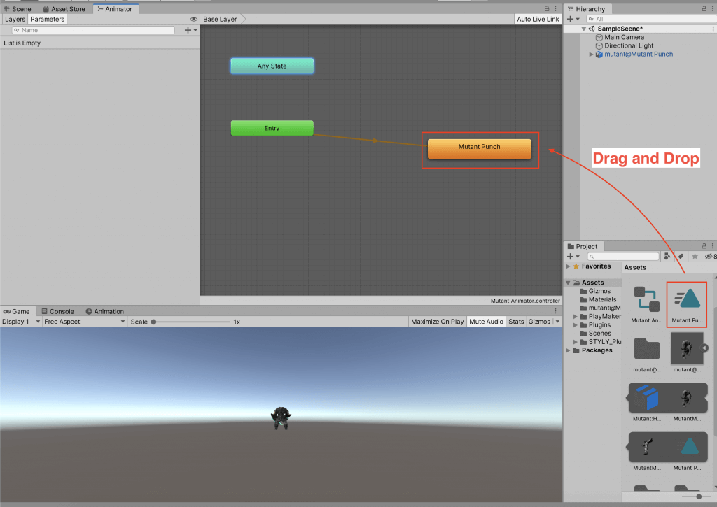 Add the animation to the controller